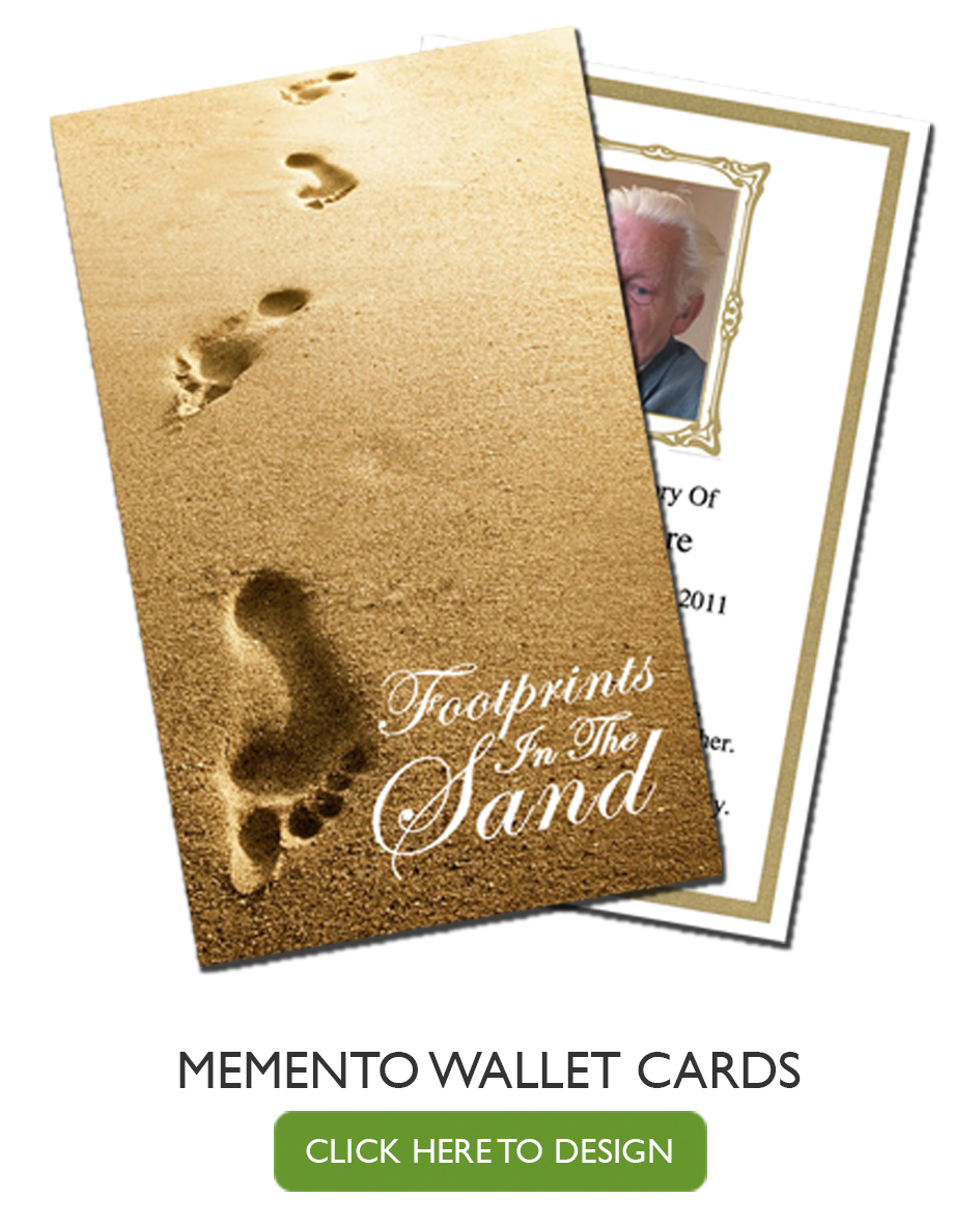 Funeral wallet cards